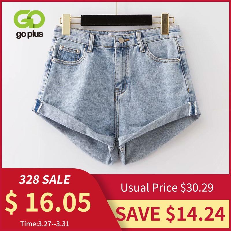 GOPLUS High Waist Denim Shorts Women Summer Sexy Blue Shorts Jeans Femme Mujer Spodenki Damskie Pantalones Cortos Mujer C9729