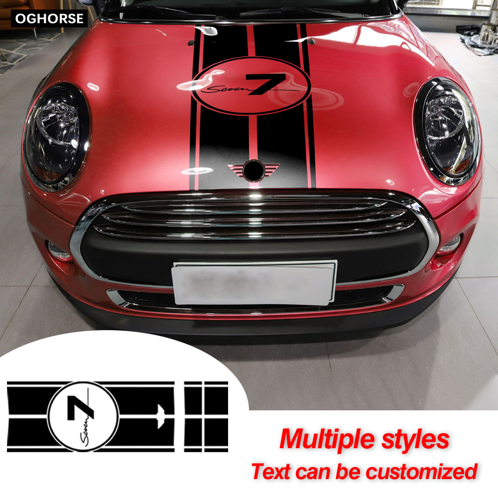 Car Hood Decal Engine Cover Rear Trunk Body Stickers For MINI Cooper S F55 F56 JCW Clubman F54 Accessories