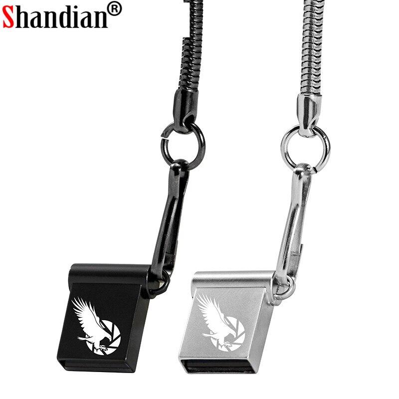 SHANDIAN Mini USB 2.0 Flash Drives 64GB 32GB 16GB Usb Stick Gemakkelijk Te Grote Capaciteit Usb Flash Drive 128GB