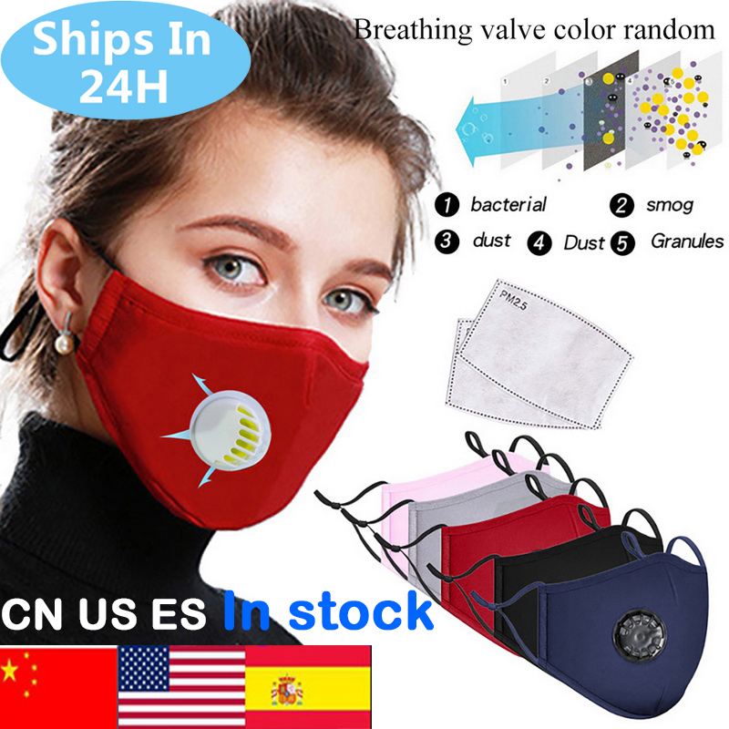 Washable Dustproof PM2.5 Mask Anti-fog Mask Filter Reusable Mask With Breathing Valve Activated Filter Respirator Mouth-muffle