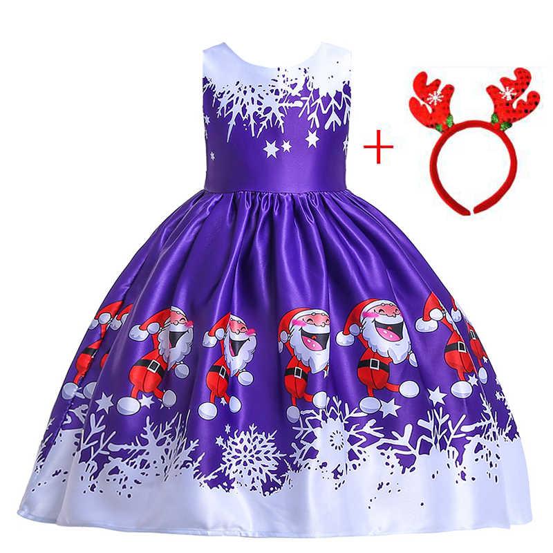 Vestido De Fiesta De Navidad Para Niñas Traje De Año Nuevo Vestidos Para Niñas Elegante Vestido De Princesa Para Niños 3 4 5 6 7 8 9 10 Años