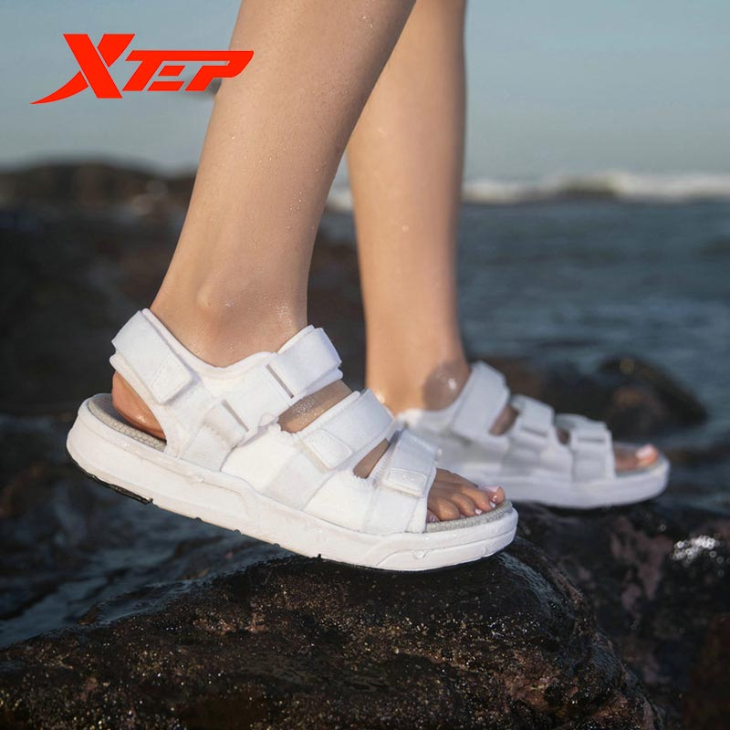 Xtep Summer Sandals Women's Beach Shoes Lady Comfortable Casual Outdoor Sports Beach Sandals 881218509583