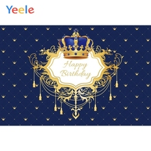 Yeele Baby Boy Birthday Backdrop Crown Chandelier Prince Royal Photocall Customized Photography Background  For Photo Studio funnytree prince photography background baby shower royal blue crown damask birthday backdrop photocall photo studio printed