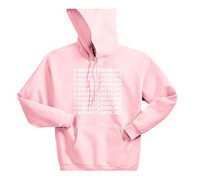 1 800 Hotline Bling Pink Hoodie Men And Women Loose Fit Europe And America High Street Tops Autumn And Winter Coat