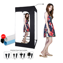 200cmx120cmx100cm Dimmable Photo Studio Lighting Softbox Light Box Folding Photography Backdrop Shooting Tent kit