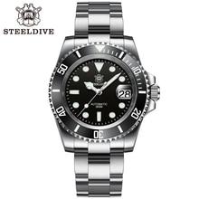 SD1953 Black Ceramic Bezel 41mm Steeldive 30ATM Water Resistant NH35 Automatic Mens Dive Watch Reloj
