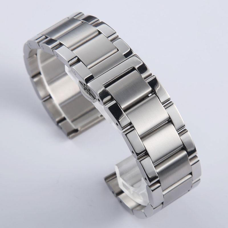 Hohe qualität 18 20 21 22 23 24mm Solide Schwarz Silber Edelstahl Armband Universal Armband Für Seiko Citizen monbla Uhr