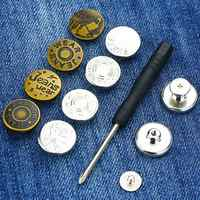 Perfect Fit Button for Any Jeans Trousers Increase Reduce Waist Replace Fastening Kit secure-lock Sewing fastener DIY