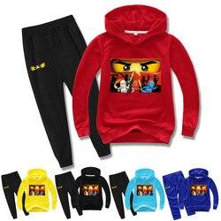2-15 primavera outono crianças conjuntos de roupas ninjatoes crianças roupas do bebê meninos hoodies calças 2 pçs conjunto treino legoes outwear casaco