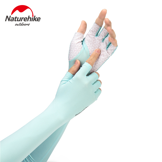 Naturehike Outdoor Breathable Half Finger UV Protection Sleeves Driving Camping Hiking Protection Arm Sleeves
