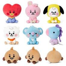 Kpop Bangtaned-Cara de muñeco de felpa para bebé, corazón, perro, conejo, oveja, caballo, koala, Animal de postura sentado, juguete de peluche, regalo para niña