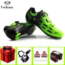цена TIEBAO Road Cycling Shoes add pedal set men Breathable Self-locking Athletic Racing Team Bicycle Shoes Bike bicycle Shoes онлайн в 2017 году