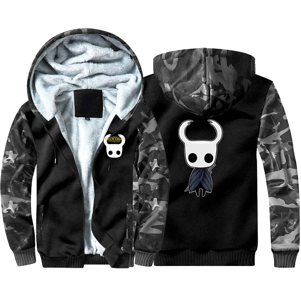 New Hollow Knight Camouflage Hoodie Sweatshirts Winter Casual  Cosplay The Knight Coat Thicken Warm Hooded Men Clothing