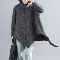 2019 Fashion Women Pullovers And Sweaters Loose Soft Poncho Women Slash Neck Bat Long Sleeve Pullover Sweater Shawl Warm Coat