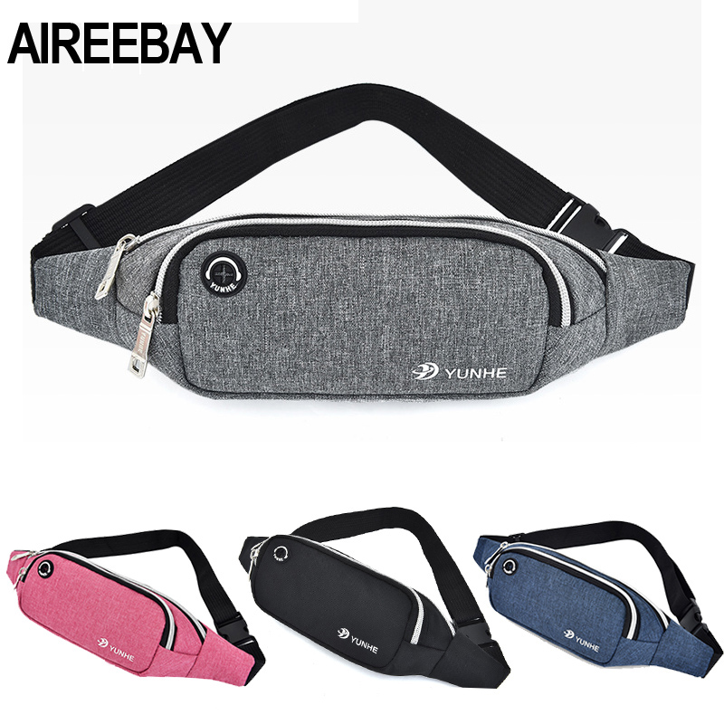 AIREEBAY Waist Bag Women New Leisure Running Fanny Pack For Girls Sports Letter Print Bum Bag Packs Fashion Chest Crossbody Bag
