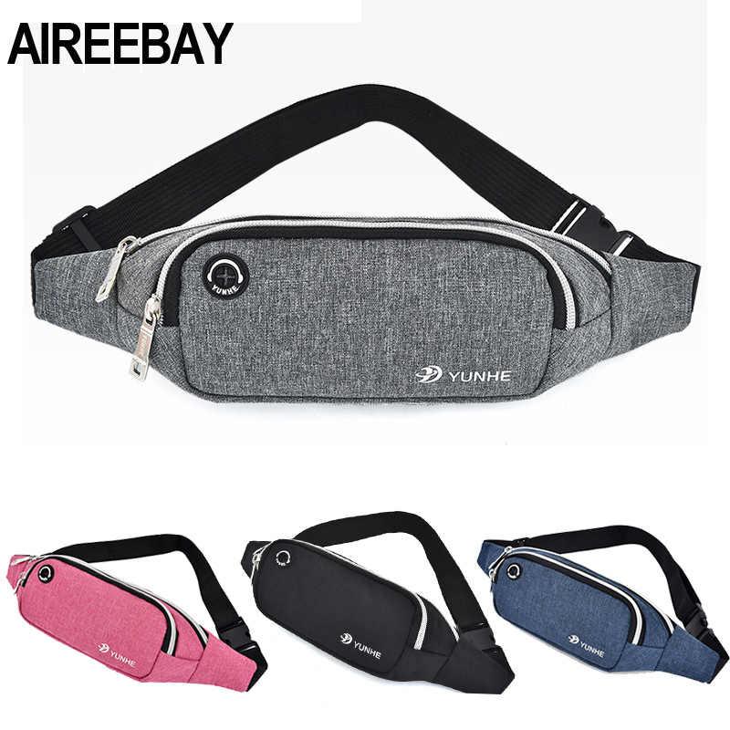 AIREEBAY الخصر حقيبة المرأة جديد الترفيه تشغيل حزمة مراوح للبنات الرياضية إلكتروني طباعة محفظة تربط حول الخصر حزم الأزياء الصدر Crossbody حقيبة