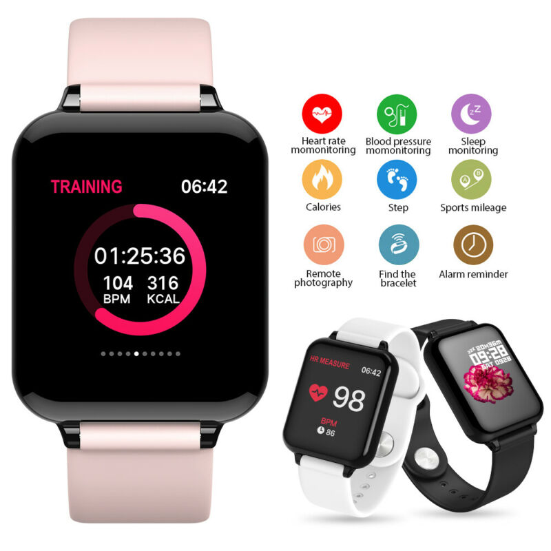 Sports Waterproof Activity Tracker Fitness Smart Watch Swimming For Fit bit style image