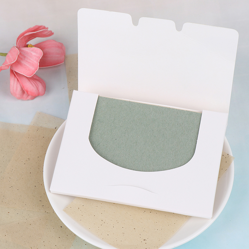 1bag/50 Sheet Tissue Papers Green Tea Smell Makeup Cleansing Oil Absorbing Face Paper Absorb Blotting Facial Cleanser Face Tool