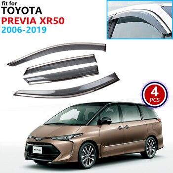 Для Toyota Previa Estima Aeras Tarago XR50 2006 ~ 2019 оконный козырек вентиляционные навесы защита от дождя дефлектор аксессуары 2007 2008 2009