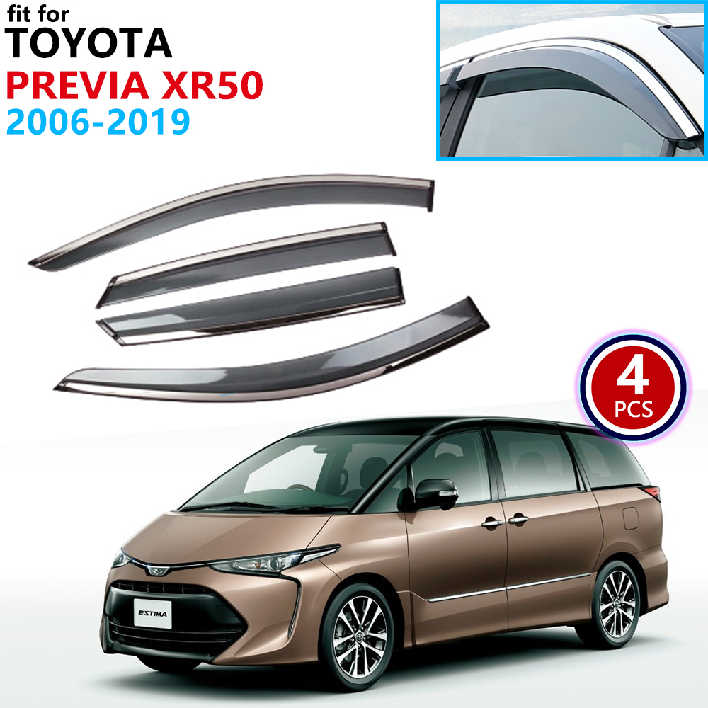 For Toyota Previa Estima Aeras Tarago XR50 2006~2019 Window Visor Vent Awnings Rain Guard Deflector Accessories 2007 2008 2009