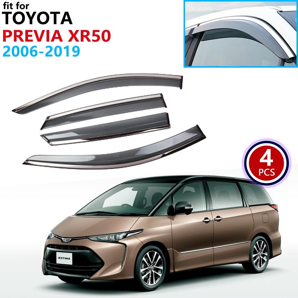 For Toyota Previa Estima Aeras Tarago XR50 2006~2019 Window Visor Vent Awnings Rain Guard Deflector Accessories 2007 2008 2009