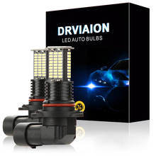 2pcs 9005/HB3 12V-24V car Fog Light Bulbs 3030SMD 2800LM 6000K 55W LED fog Lights lamps accessories