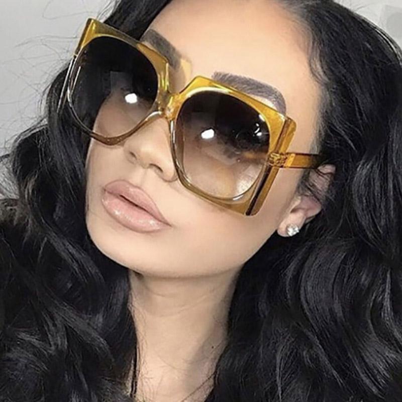 Retro Square Brand Designer Sunglasses Women Fashion eye glasses Oversized Luxury glasses eyewear Oversized Sunglasses Woman