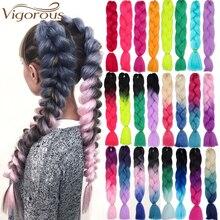 Энергичные огромные косички волосы Омбре вязанные крючком косички синтетические волосы для наращивания яки косички волосы блонд красный розовый