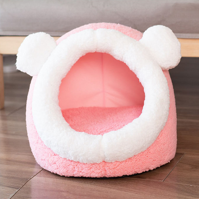 Pet Cat Bed Indoor Kitty House Cute animal Warm Small for cats Dogs Nest Collapsible Cat Cave Cute Sleeping Mats Winter Products 4