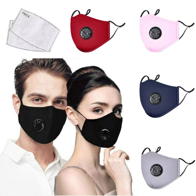 Reusable Washable Breathable Face Mask Cycling Running Facemask Anti Dust Windproof Air Purifying Face Mask with Filter