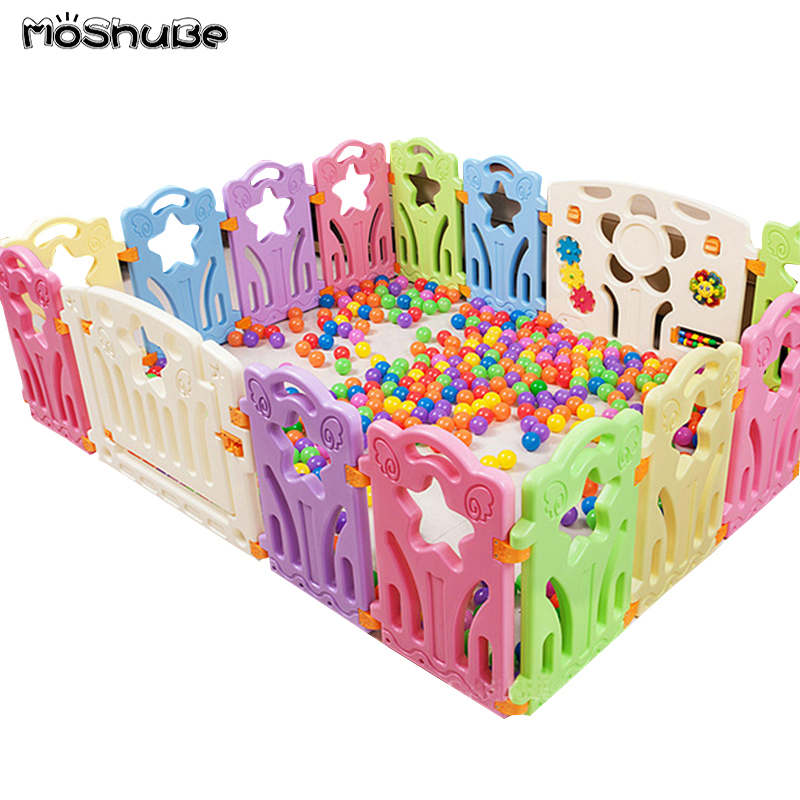 Children's Playpen 2019 New Candy Color Safety Barrier For Baby Toddler Balls Pool Fence With Gate Game Play Yard Activity Gear