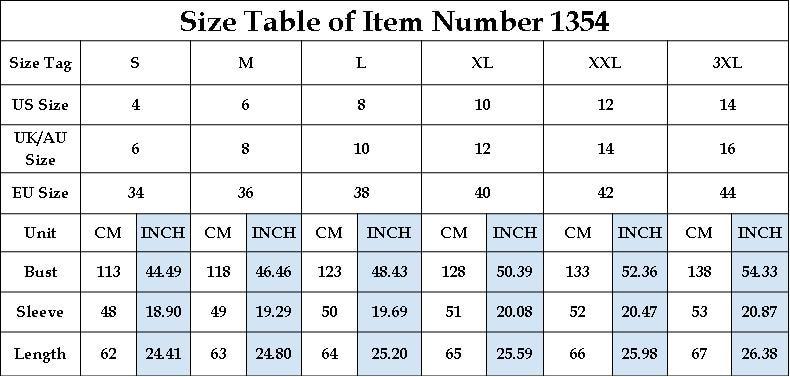 1354size chart