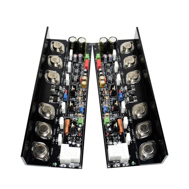 AIYIMA 2 個 KSA50 MJ15024G/MJ15025G + MJE15034/MJE15035 ハイファイ発熱ハイパワー 250 ワット * 2 純粋なクラス AB アンプボード