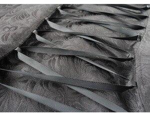 Image 4 - ヴィンテージスチームパンクゴシックスタイルの綿のジャケットリベットタキシードコート女性のための生地スリムアリコートトップ女性黒