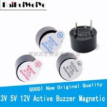 10 adet/LOTE 3V 3.3V 5V 12V aktif Buzzer manyetik uzun sürekli bip sesi 12*9.5MM yeni orijinal kaliteli