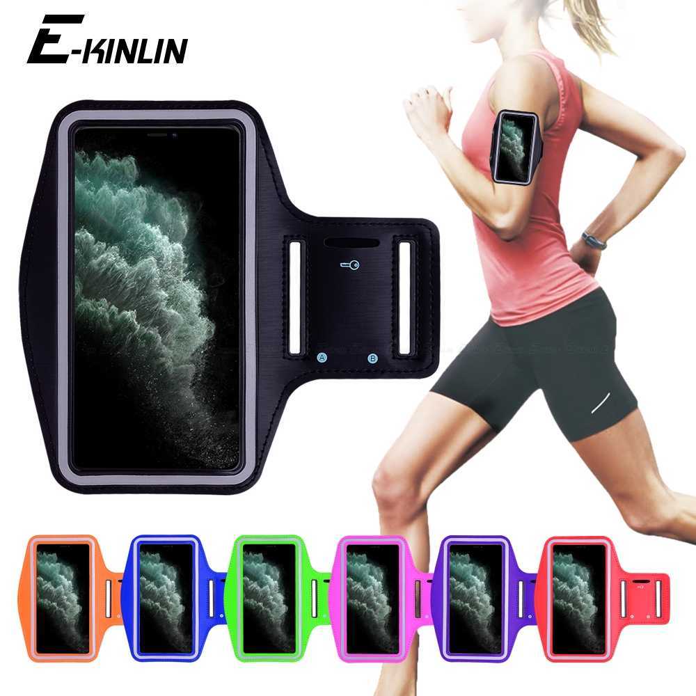 Wodoodporny sport Running Workout Gym Arm Band Case dla iPhone 11 Pro XS Max XR X 8 7 6 6S Plus SE 2020 5 5S 4S SE2 pokrowiec