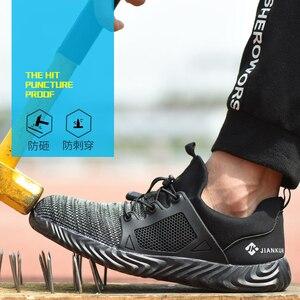 Image 2 - Ryder zapatos indestructibles con punta de acero para hombre y mujer, botas de seguridad antiperforación, transpirables, para trabajo