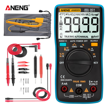 цена на ANENG AN8008/AN8009 Digital Multimeter 9999 Counts True-RMS Transistor Capacitor Tester Auto Electrical Rm409b Test Lo Z Temp