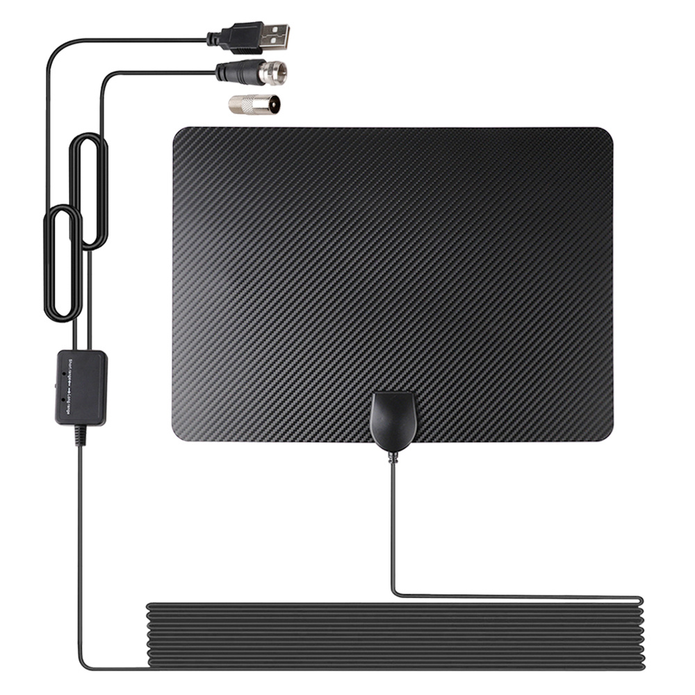 Indoor Digital TV Antenna 120 Miles Range Signal Booster Amplifier DVB-T Arial