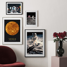 Astronaut Venus City Landscape Wall Art Print Canvas Painting Nordic Canvas Posters And Prints Wall Pictures For Living Room Bar свитшот print bar 28 дней спустя