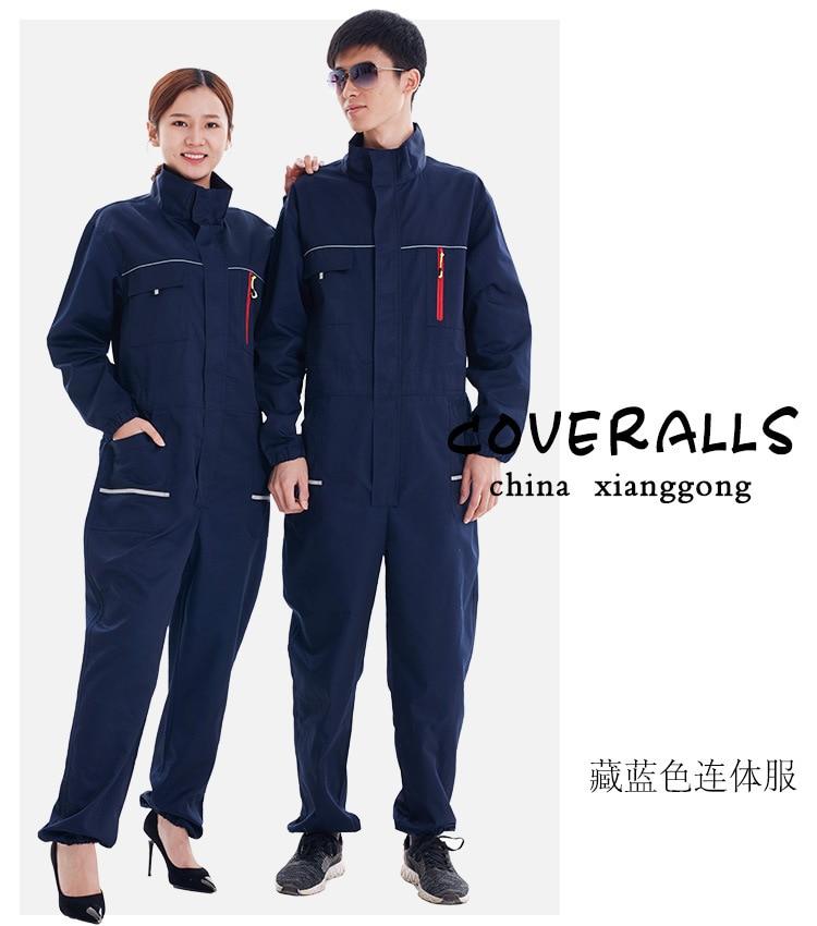 Mulher homens trabalho geral uniforme primavera bolsos