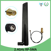 10 шт. оптовая продажа 2,4 ГГц антенна wifi RP-SMA разъем 8dBi WiFi антенна 2,4 ГГц антенна + 21 см RP SMA в ufl./IPX 1,13 Pigtai кабель