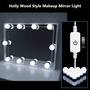 Image 4 - Led 12V Make Spiegel Gloeilamp Hollywood Vanity Verlichting Traploos Dimbare Wandlamp 6 10 14 Bollen Kit Voor kaptafel