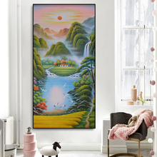 Abstract Landscape Oil Painting Wall Art Canvas Posters And Prints Modern Living Room Aisle Decor Modern Home Decoration Picture modern abstract landscape picture home decor nordic canvas painting wall art mountain sunrise prints and posters for living room