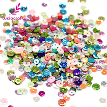 Lucia Crafts 20g/lot 5mm  Loose Sequins Paillettes DIY Sewing Sequins Garment Dress Bags Wedding D0208 5meters 17colors connecting strip with diy sequins handicraft pearl sequins garment connecting strip with diy sequins