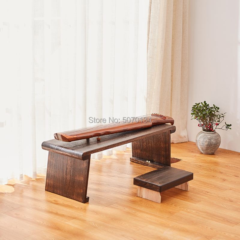 Antique Wooden Piano Table With Folding Legs Rectangle Tea & Coffee table Paulownia Wood Traditional Furniture Living Room