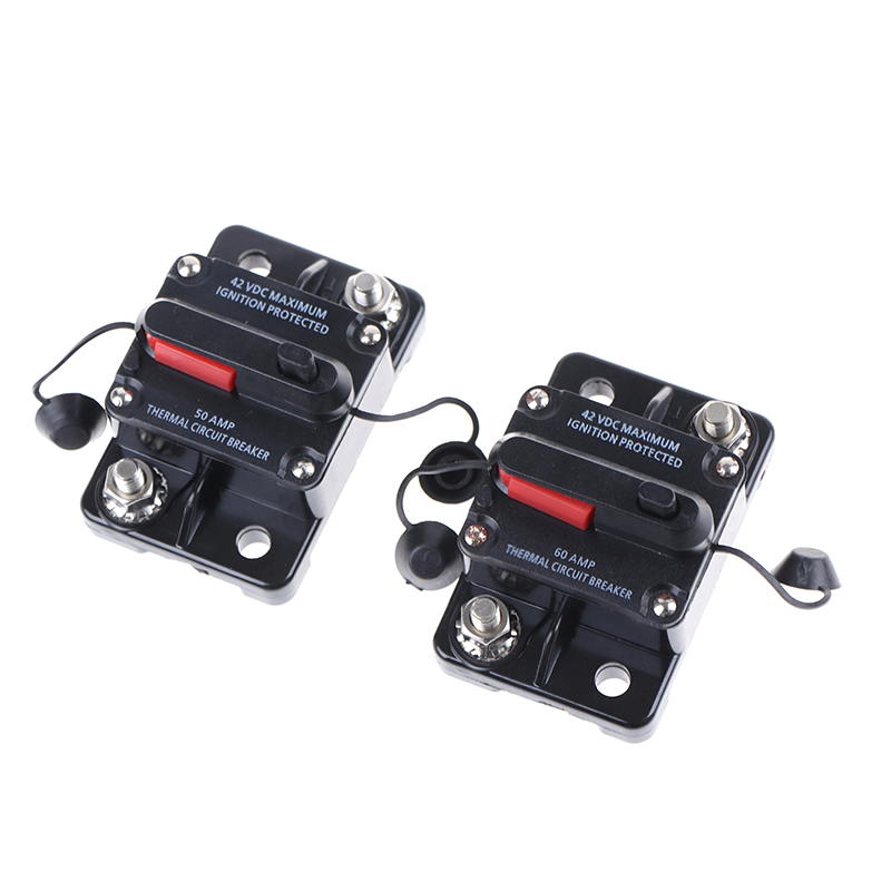 50-300a Amp Circuit Breaker Dual Battery Ip67 Waterproof 12-42v Fuse Manual