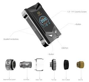 Image 3 - Original SnowWolf Mfeng 200W TC Vape Kit With 6mL Tank Atomizer Electronic Cigarette Kit Support Dual 18650 Battery VS DRAG 2