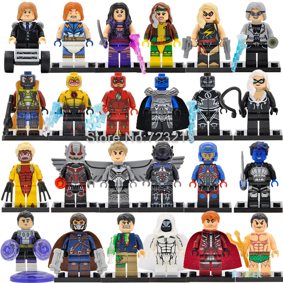 Single Super Hero Figure Ant-Man Professor X Rogue Star Lord Archangel Magneto Arkham Knight Atom Building Blocks Toys Legoing
