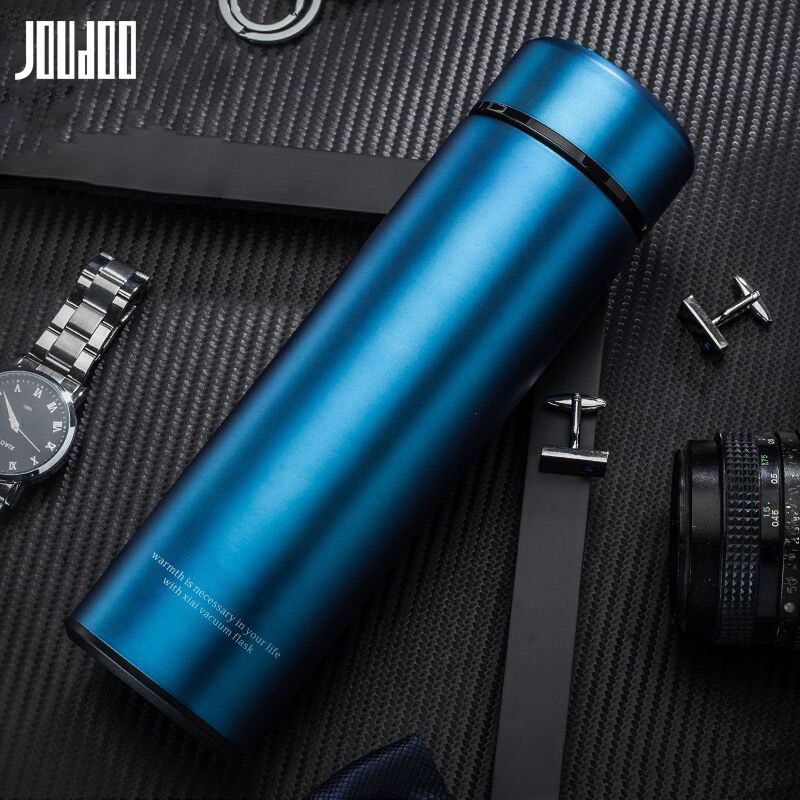 JOUDOO Business Thermos Tea Mug With Strainer Thermo Coffee Cup 304 Stainless Steel Thermal Bottle Vacuum Flask 35